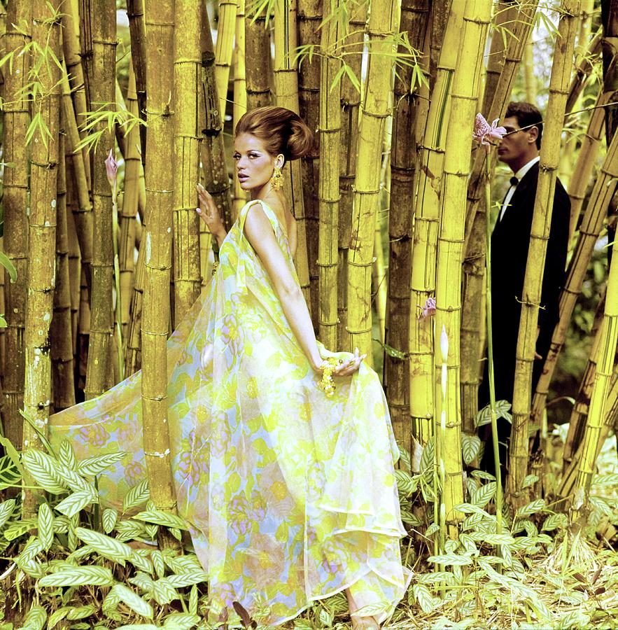 Veruschka Wearing A Griffe Ensemble Photograph by Henry Clarke