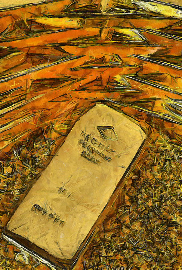 Immaculate Framed Prints Painting - Very Beautiful Gold Ingots by Teara Na