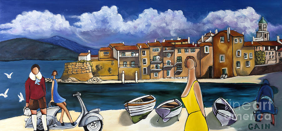 VESPA AND FRENCH COVE by William Cain