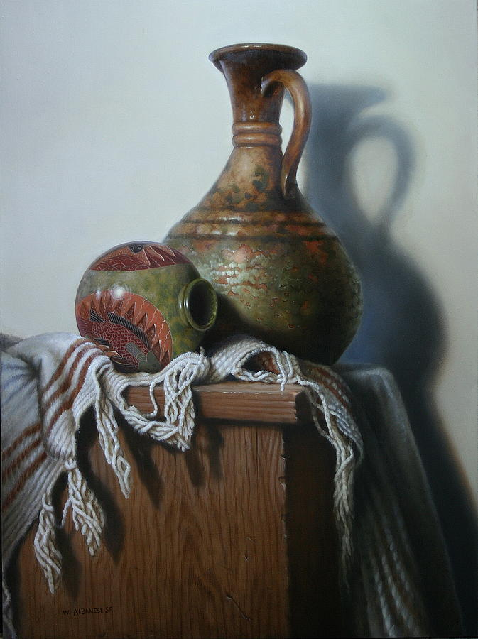 Still-life Painting - Vessels by William Albanese Sr