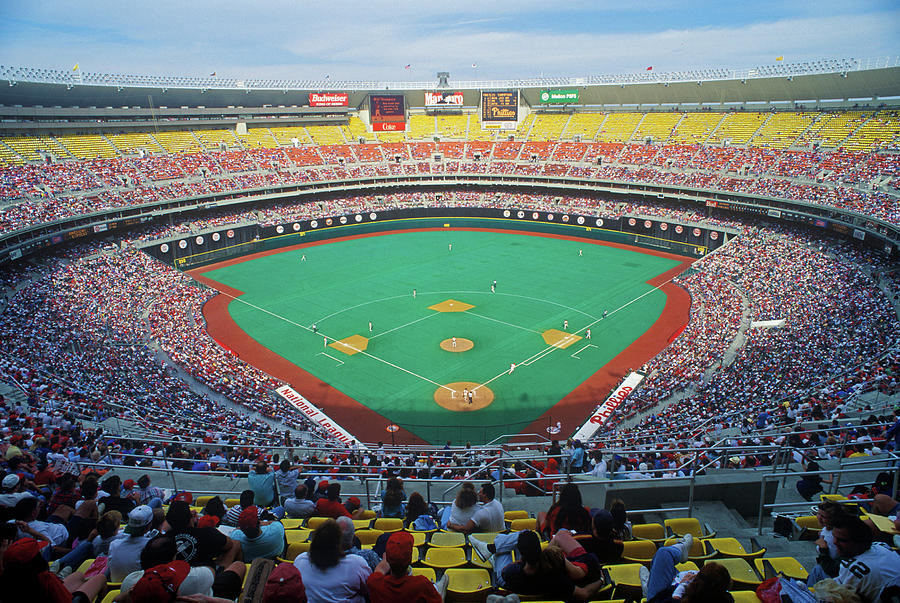 Horizontal Photograph - Veterans Stadium During Major League by Panoramic Images