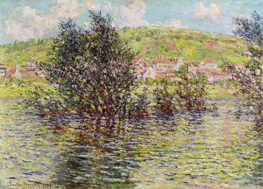 Claude Monet Vue De Vetheuil Sports Bag