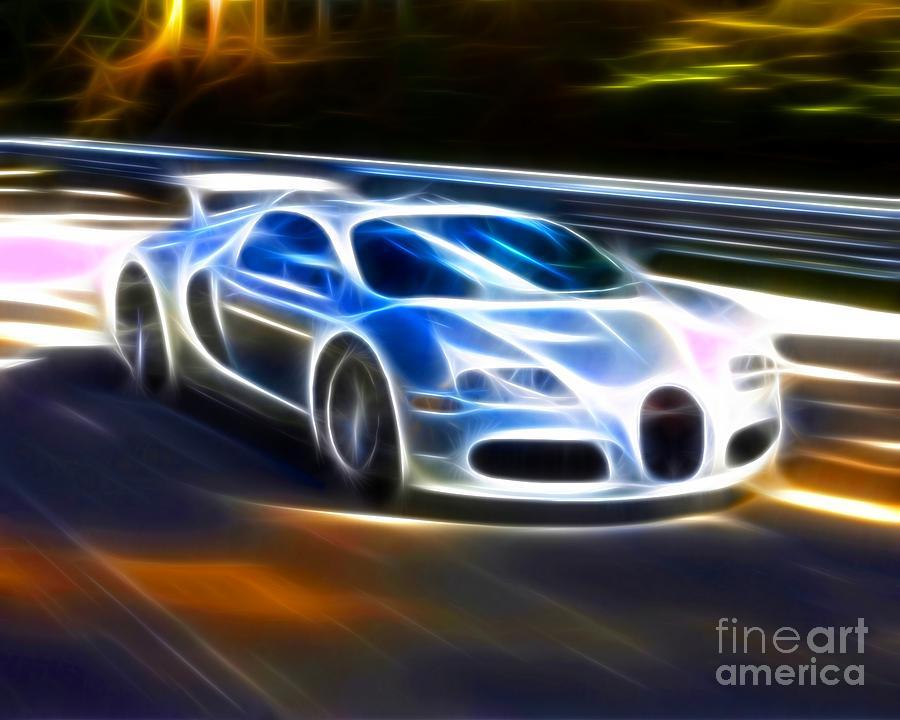 Car Mixed Media - Veyron - Bugatti by Pamela Johnson
