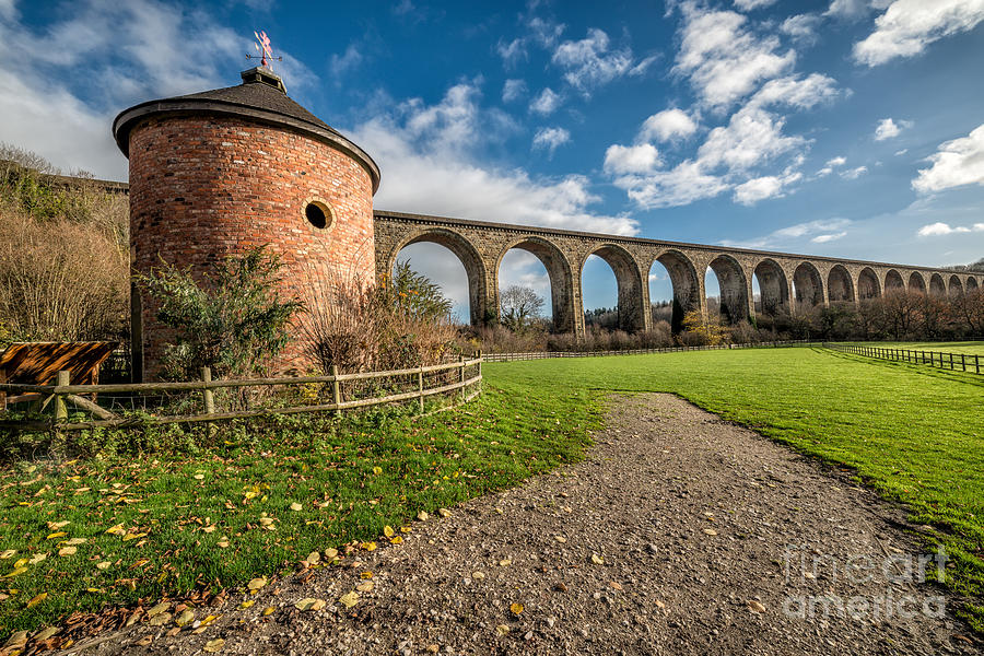 Aqueduct Photograph - Viaduct Ty Mawr Park by Adrian Evans