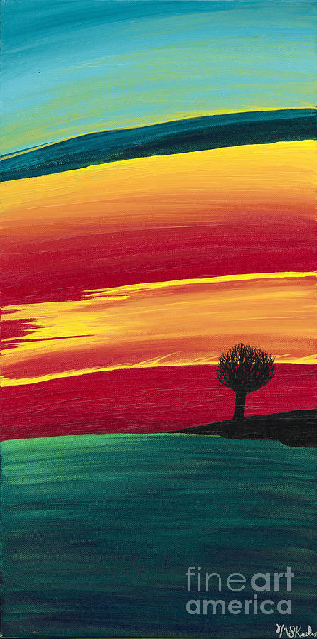 Vibrant Painting - Vibrant Evening by Melissa F Kaelin