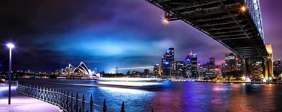 Sydney Photograph - Vibrant Sydney Harbour by Az Jackson