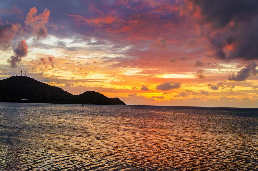 Vibrant Tropical Sunset Photograph