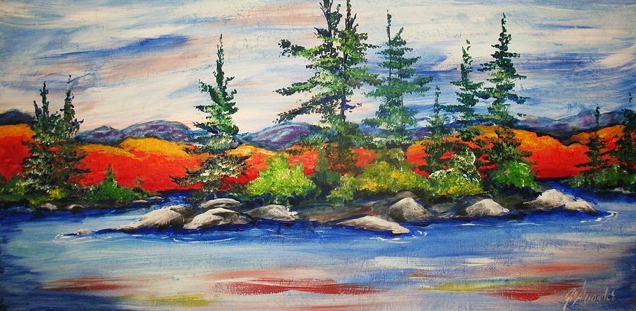 Landscape Painting - Vibrant Vista by Jill Alexander
