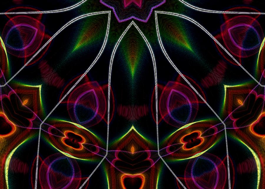 Flame Fractal Digital Art - Vibrational Tendencies by Owlspook
