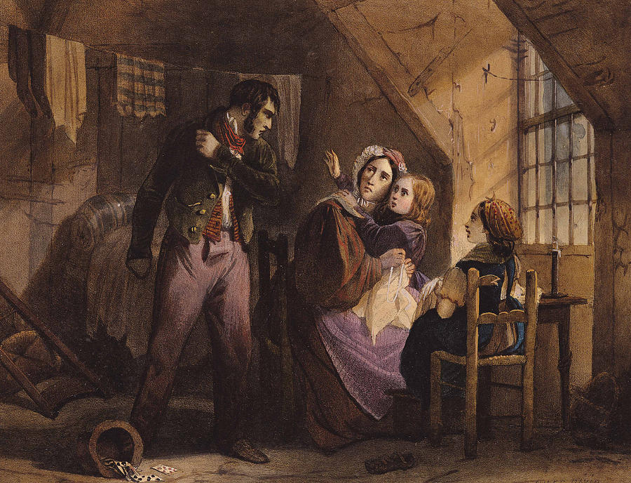 Interior Painting - Vice And Virtue   Misery by Jules David