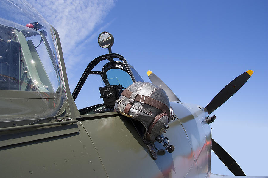 Cockpit Photograph - Vickers Spitfire by Daniel Hagerman