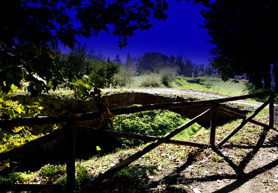 Pisa Photograph - Vicopisano -pisa -little Bridge by Daniele Fedi