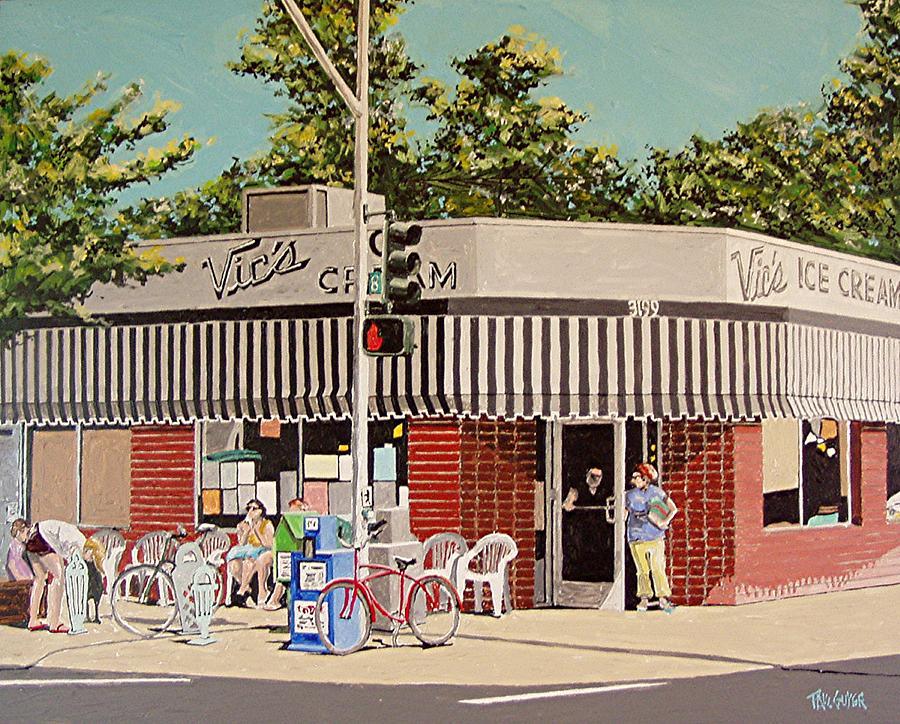 Sacramento Painting - Vics Ice Cream No. 3 by Paul Guyer