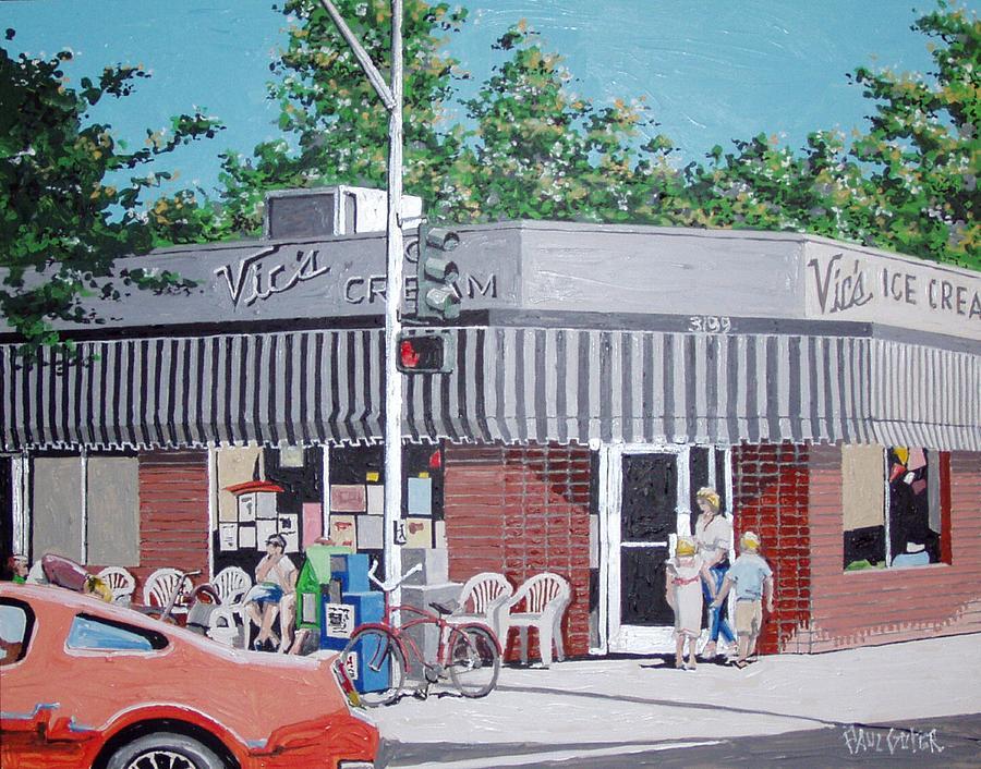 Sacramento Painting - Vics Ice Cream No. 4 by Paul Guyer
