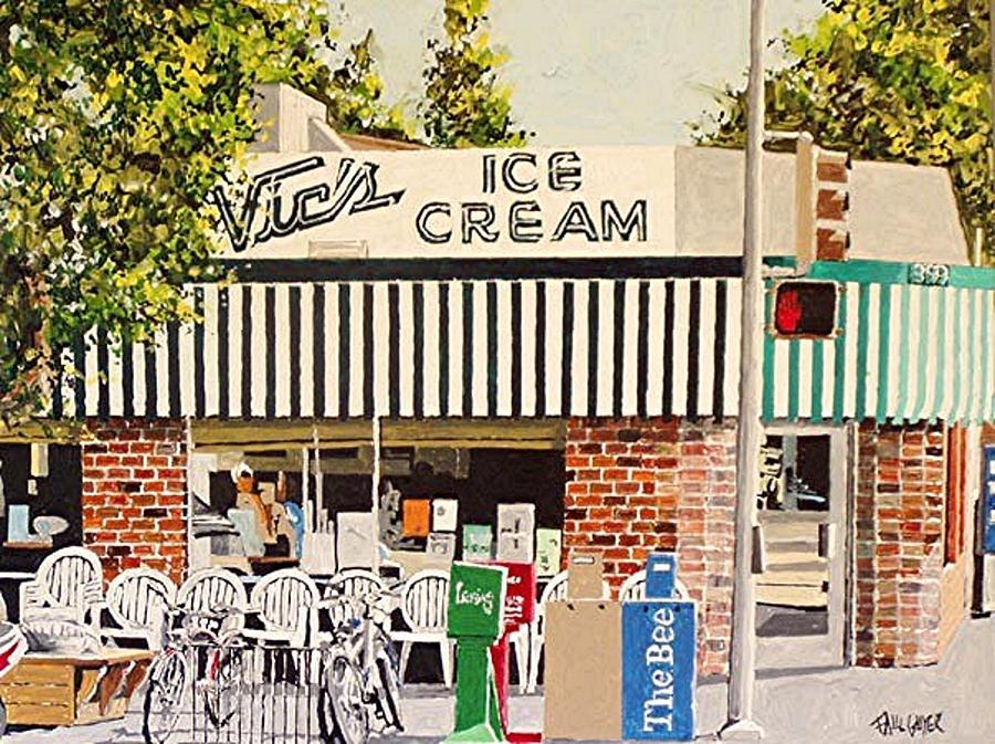 Sacramento Painting - Vics Ice Cream by Paul Guyer