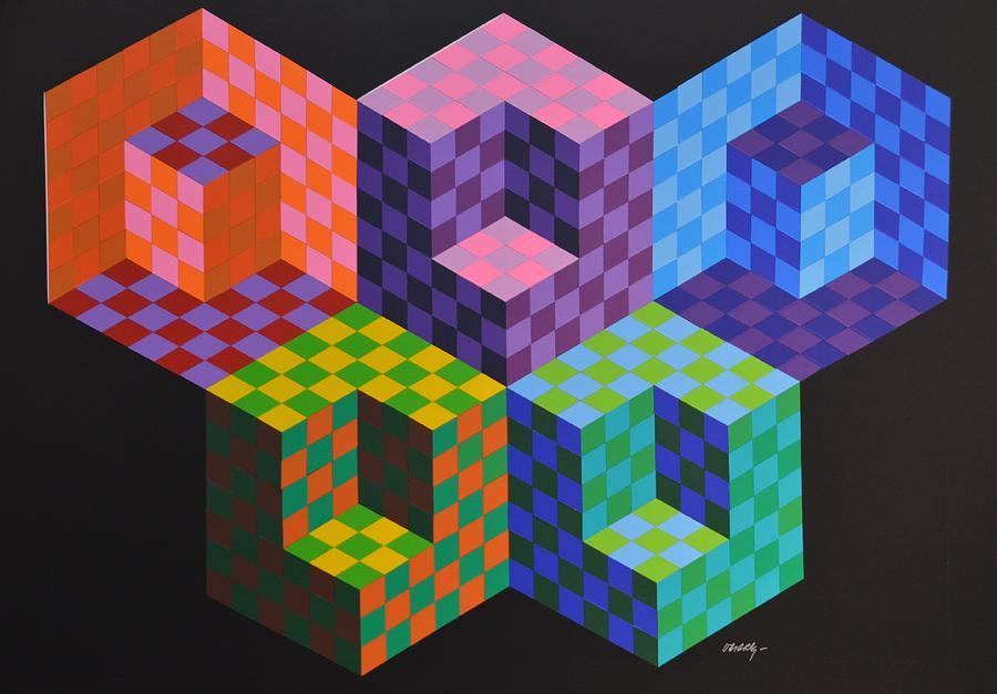 Victor Vasarely Op-art Olimpic Games Photograph by Pankratova Mary