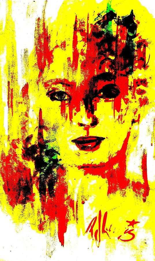 Yellow Painting - Victorene by P J Lewis