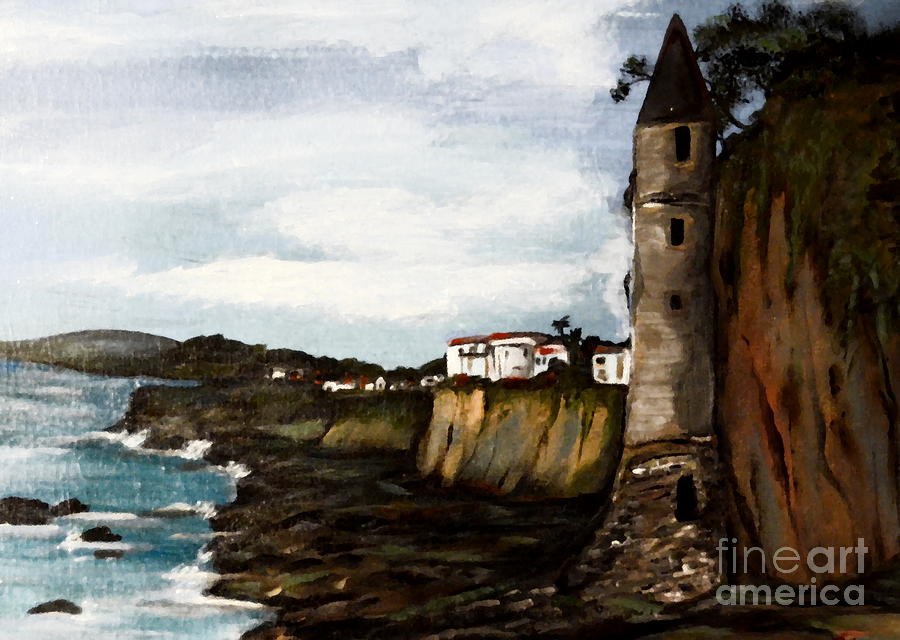 Laguna Beach Painting - Victoria Beach Laguna Beach by Valarie Pacheco