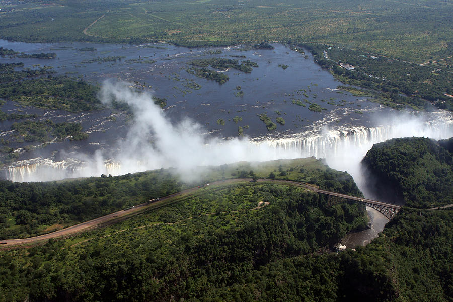 Aerial Photograph - Victoria Falls  by Aidan Moran