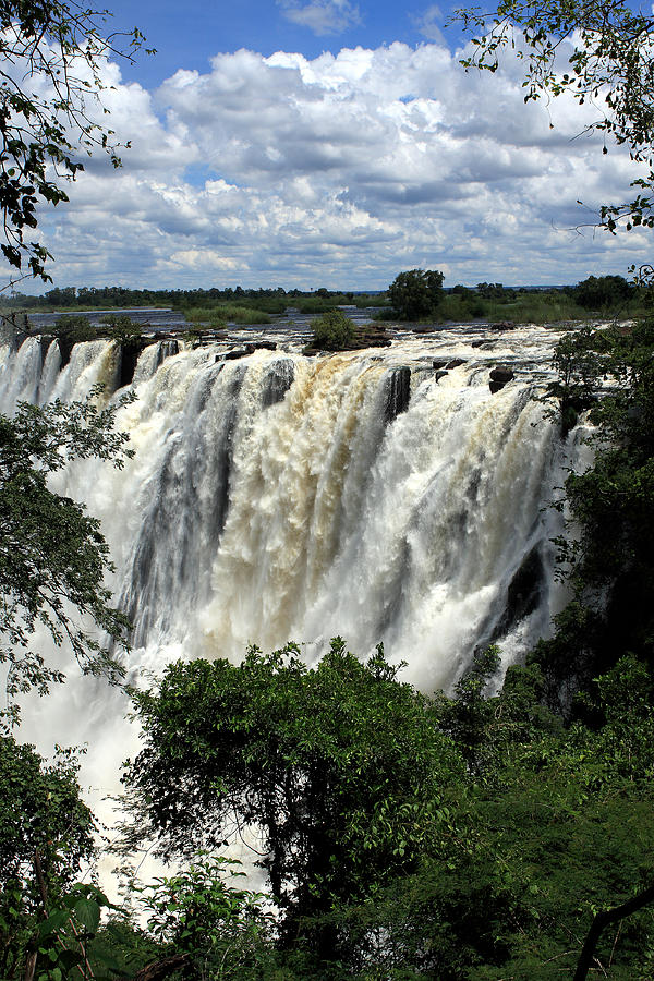 Victoria Falls On The Zambezi River Photograph