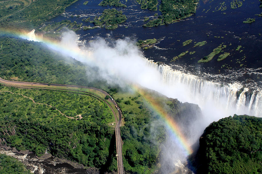 Rainbow Over Victoria Falls  by Aidan Moran