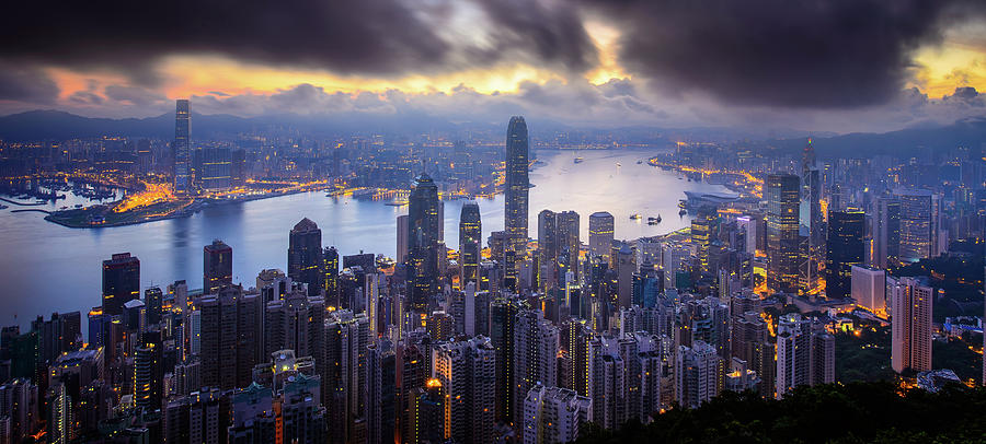 Victoria Harbour, Hong Kong Photograph by William C. Y. Chu