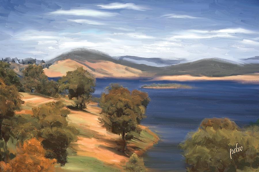 Australia Painting - Victoria Lake by Philip White