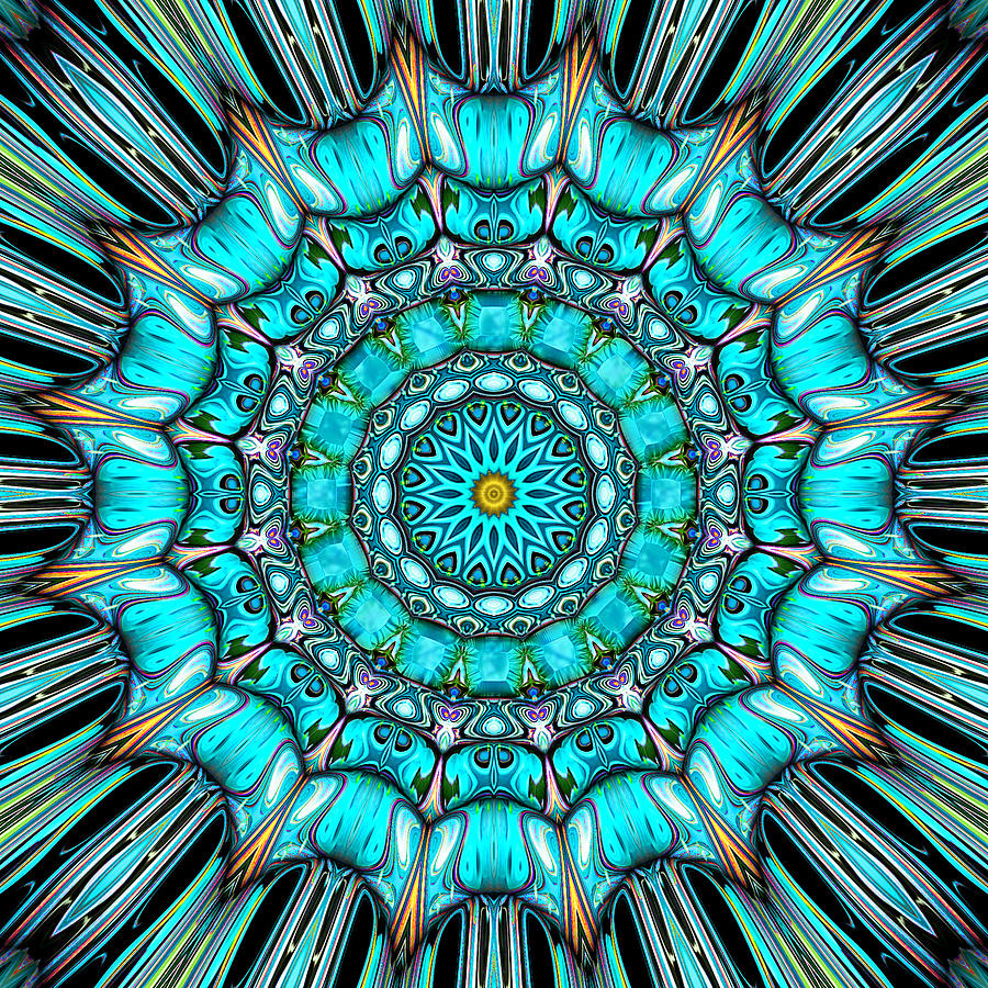 Kaleidoscope Digital Art - Victoria by Wendy J St Christopher