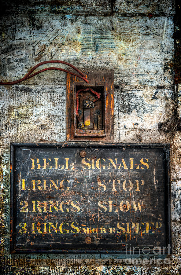 1 Ring Photograph - Victorian Bell Sign by Adrian Evans
