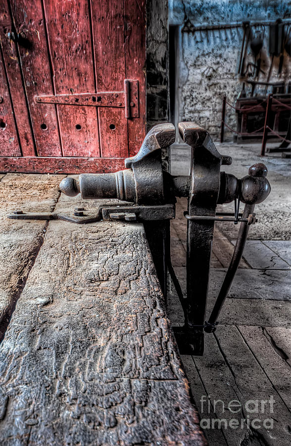 Architecture Photograph - Victorian Bench Vice by Adrian Evans