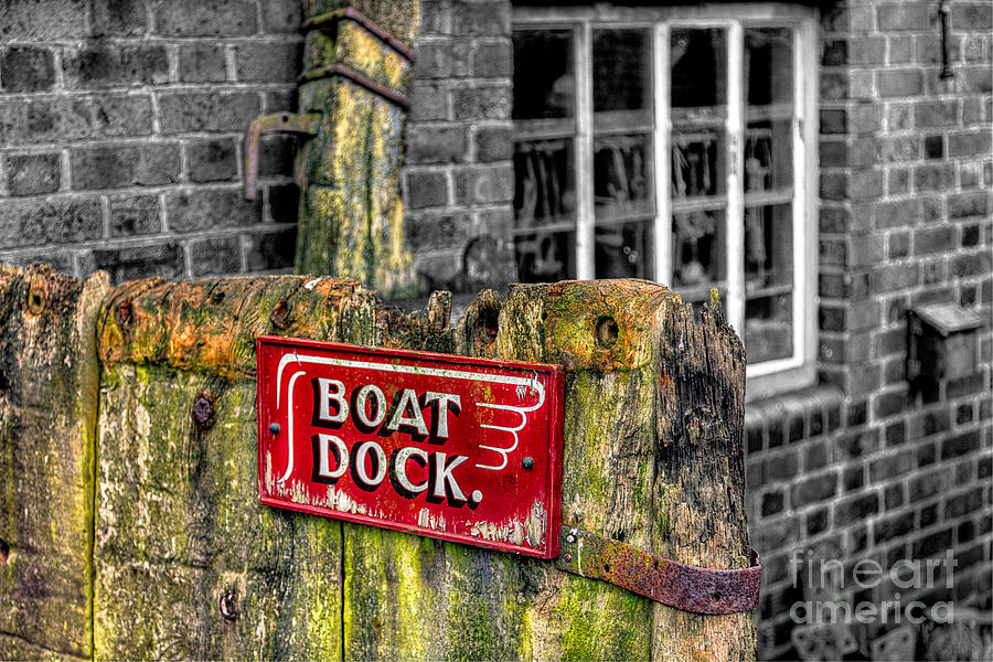 Architecture Photograph - Victorian Boat Dock Sign by Adrian Evans