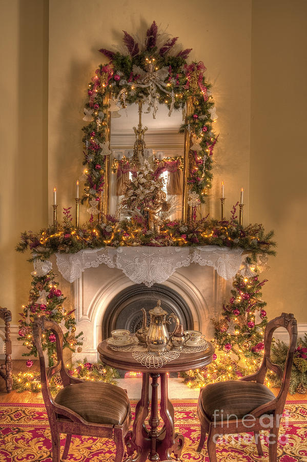 Victorian Christmas By The Fire Photograph by Margie Hurwich