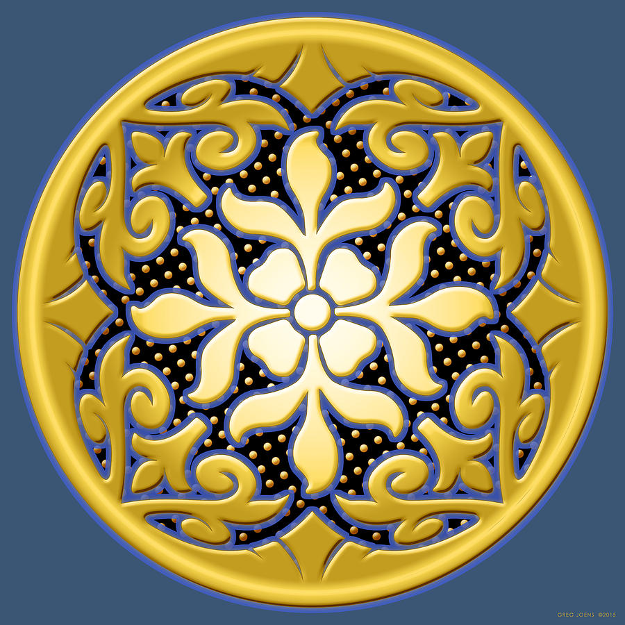 Victorian Door Knob Design Digital Art