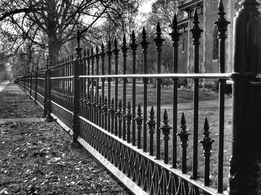 Victorian Fence Photograph - Victorian Fence by Jane Linders