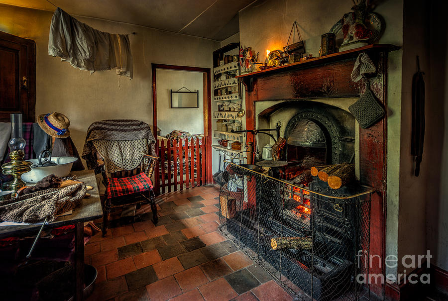 British Photograph - Victorian Fire Place by Adrian Evans