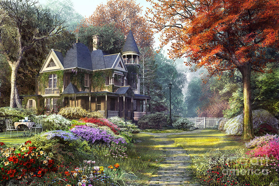 Victorian Garden Digital Art By Dominic Davison