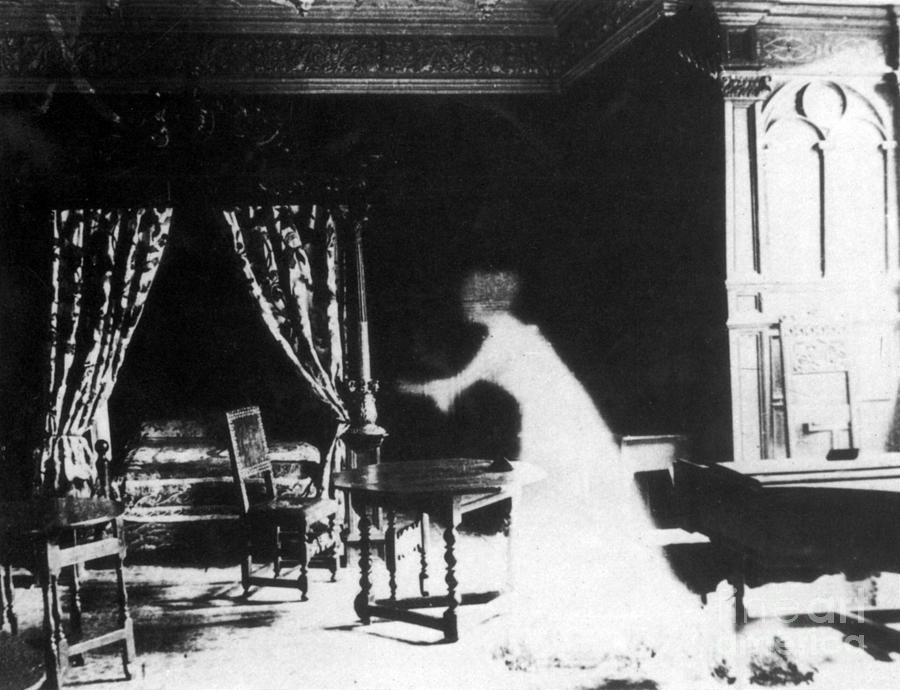 victorian ghost 19th century photograph by photo researchers