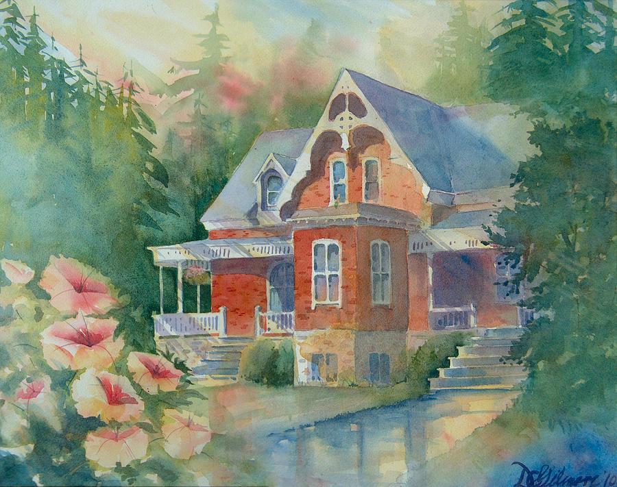 Victorian House Painting By David Gilmore