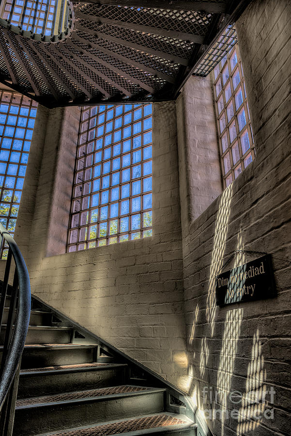 Architecture Photograph - Victorian Jail Staircase by Adrian Evans