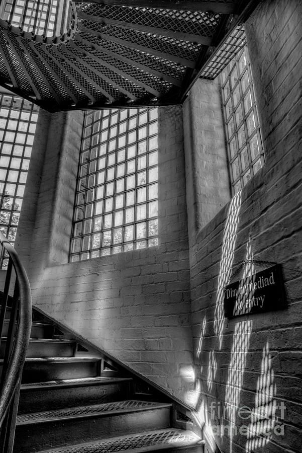 1654 Photograph - Victorian Jail Staircase V2 by Adrian Evans