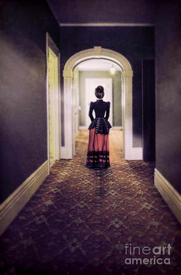 Victorian Lady In Hallway Photograph By Jill Battaglia