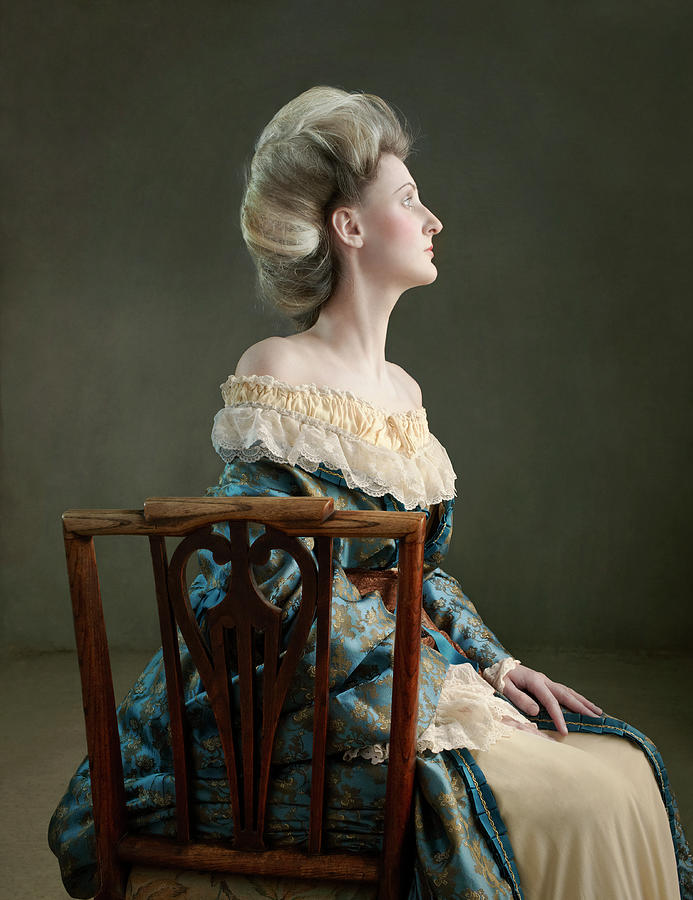 Victorian Lady Sitting In Chair Photograph by Zena Holloway