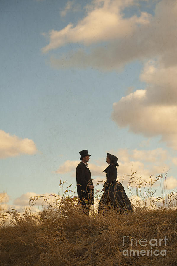 Victorian Photograph - Victorian Man And Woman by Lee Avison