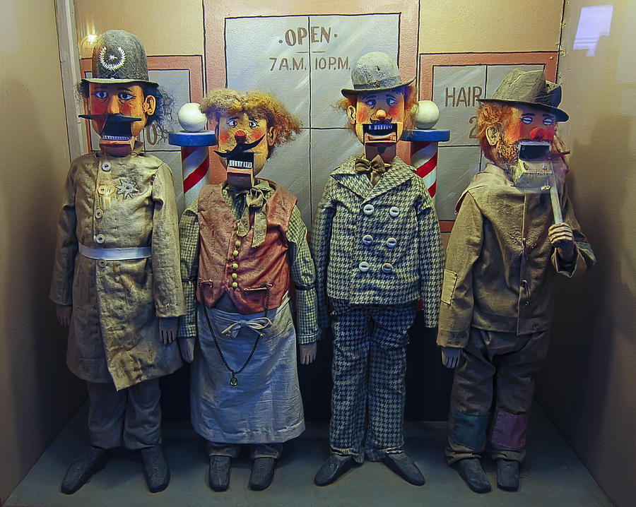 San Francisco Photograph - Victorian Musee Mecanique Automated Puppets - San Francisco by Daniel Hagerman