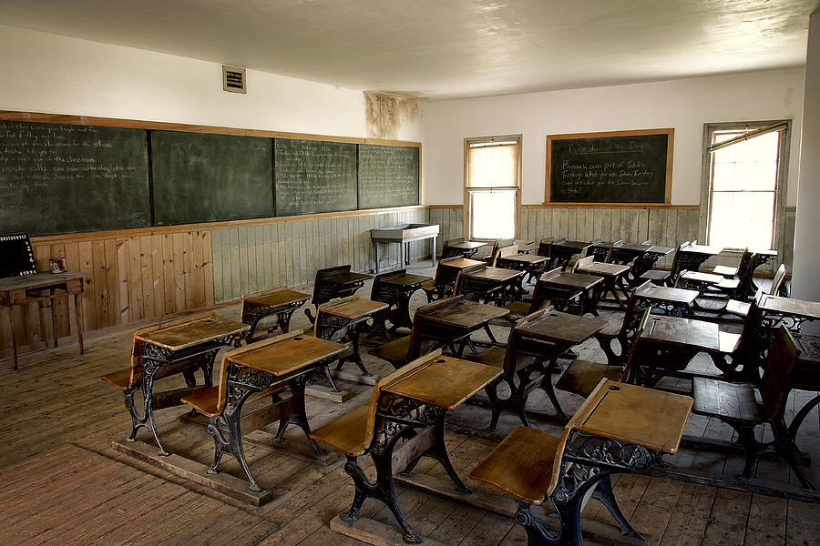 Victorian Old West Classroom Photograph By Daniel Hagerman
