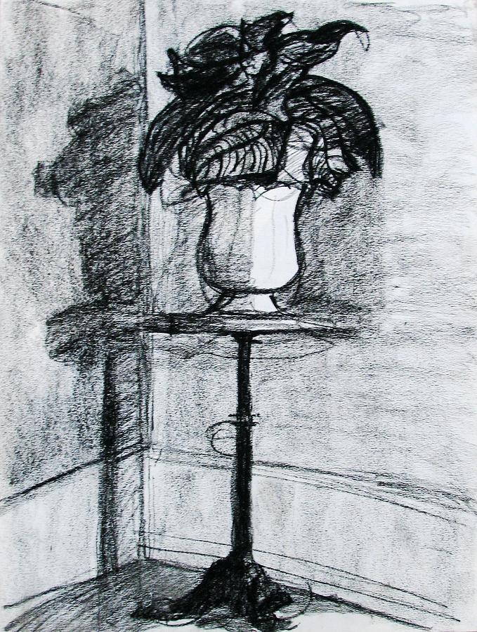 Victorian Drawing - Victorian Plant Stand by Anita Dale Livaditis