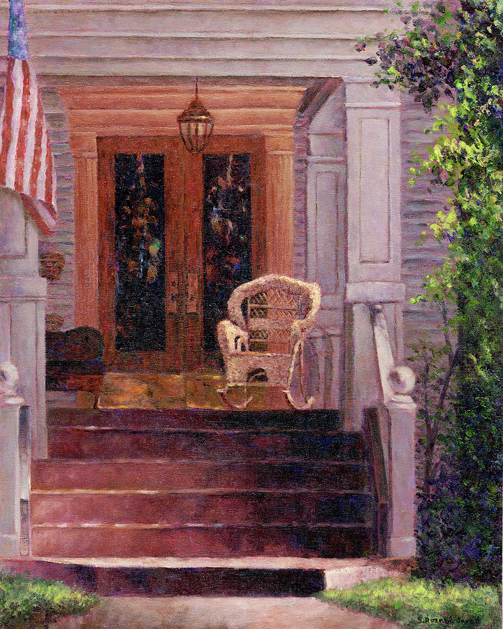 Wicker Painting - Victorian Rocking Chair by Susan Savad