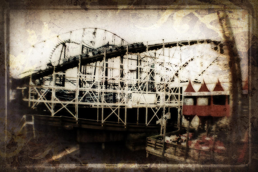 Disney Painting - Victorian Roller Coaster by Doc Braham
