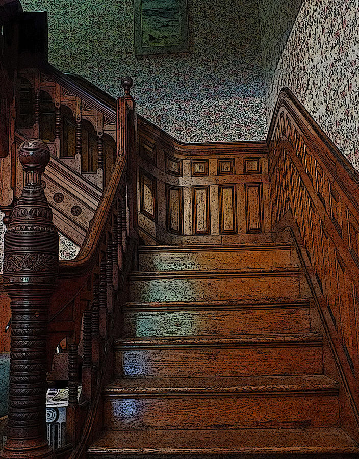 Victorian Stairs Photograph By William Walker