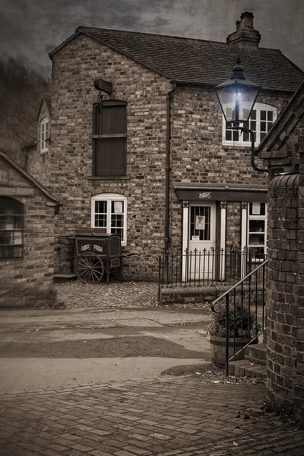 Cobbled Photograph - Victorian Stone House by Amanda Elwell